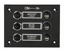 Tableau électrique étanche 3 interrupteurs