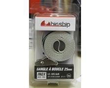 BIGSHIP Sangle à boucle inox 25mm - 3m