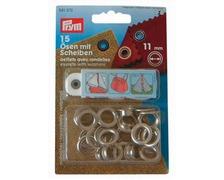 PRYM Œillets Ø11mm chromé + outils (les 15)
