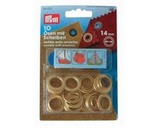 PRYM Œillets Ø14mm laiton + outils (les 10)