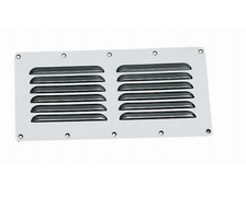 BIGSHIP Grille aeration inox rectangulaire 65 x 125 mm