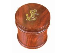 Boîte bois ronde décor ancre