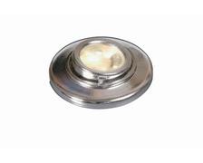 Spot orientable à leds 12v/10w - rond - boitier chromé
