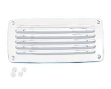 NUOVA RADE Grille aeration plastique rectangulaire blanche 2