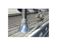 DAMADE Pied de chandelier 1 trou aluminium anodisé poli