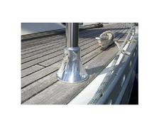 DAMADE Pied de chandelier 3 trou aluminium anodisé poli