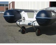 Chariot de mise à l'eau INOX avec roues Ø260mm ht 600mm - la
