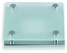 FORESTI Plafonnier carré verre teinté chromé 76x76 12/24V 20