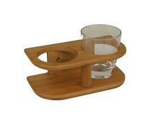 BAMBOO MARINE Support 2 verres Ø77mm