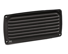 NUOVA RADE Grille aeration plastique rectangulaire noire 200