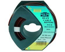 Câble électrique HiFi 2 x 0,75 mm² bobine de 10m