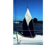 BIGSHIP Manche à air classique blanche et bleue marine