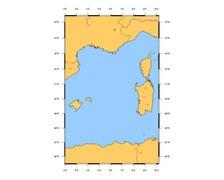 SHOM L7014 Des îles Baléares à la Corse et à la Sardaigne