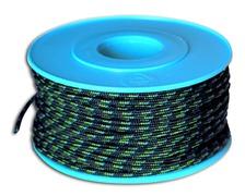 MEYER Garcette Racing noir liseré vert et bleu Ø2mm lg 20m