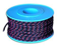 MEYER Garcette Racing noir liseré rouge et bleu Ø2mm lg 20m