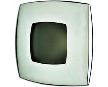 FORESTI Plafonnier carré 76mm 10W chrome aspect perlé