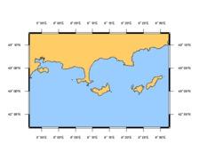 SHOM L7407 de Toulon à Cavalaire-sur-Mer - Iles d'Hyères