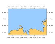 SHOM L7151 de l'anse de Kernic à l'île Grande