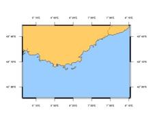 SHOM L6951 de Fos-sur-Mer à Capo Mele