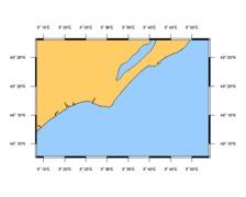 SHOM L7054 de l'embouchure de l'Aude à Sète
