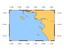 SHOM à plat 7068 De la presqu'ile de Quiberon au sables d'Ol