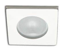Spot carré RAY à Led lumière blanche froide laiton laqué bla