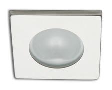 Spot carré RAY à Led lumière blanche froide inox poli