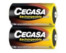 Piles rechargeables hr14 3000 mah les 2