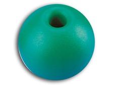 Boule d'arrêt de drisse 44mm/11mm vert les 2