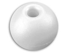 Boule d'arrêt de drisse 17mm/5mm blanc les 5