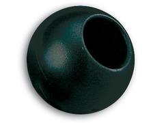 Boule d'arrêt de drisse 44mm/11mm noir les 2