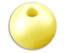 Boule d'arrêt de drisse 17mm/5mm jaune les 5