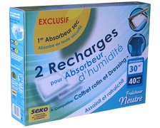 SEKO Recharges absorbeur d'humidité 300g lot de 2