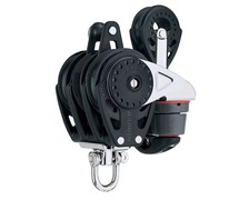 HARKEN Poulie winch triple 75mm cord 10/12 mm taquet poulie