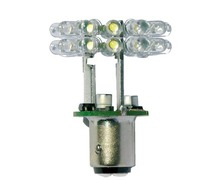 MANTAGUA Ampoule LED BAY15D double blanc neutre dif. 360°