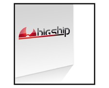 Autocollant-transfert logo Bigship police noire 120x27,5cm