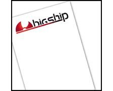 Autocollant-transfert logo Bigship police noire 25x6cm