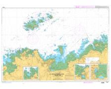 SHOM L7125 abords de Perros-Guirec-Les Sept Iles-Ile Grande