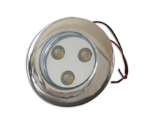 Spot à leds blanches 11,5-30V orientable 40° inox