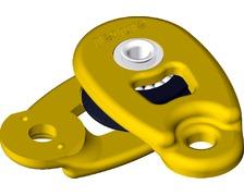 ANTAL Mini poulie ouvrante à sangler réa Ø32mm jaune