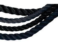 LANCELIN Cable polyester 3 torons Ø12 noir