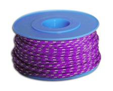 MEYER Garcette Racing violet liseré jaune et bleu Ø3mm lg 10