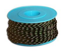 MEYER Garcette Racing noir liseré vert et bleu Ø3mm lg 10m