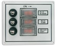 Tableau électrique de cabine 3 interrupteurs