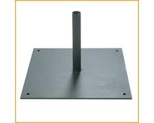 BIGSHIP Platine carré pour mât oriflamme 300 x 300 x 3 mm
