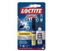 LOCTITE Super Glue-3 spéciale plastique : kit colle 2g + 4ml