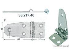 BIGSHIP Charnière inox 95x39mm