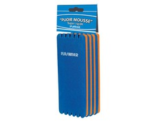 FLASHMER Plioir mousse bicolores 55x150mm les 4