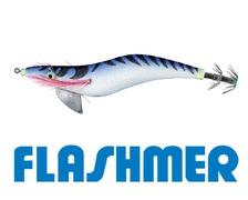FLASHMER Turlutte kariba 12cm tissu bleu