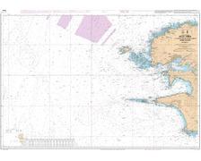 SHOM 7066 à plat L'Île Vierge à la Pointe de Penmarc'h Abord